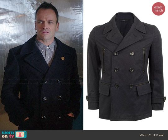 Sherlock S Pea Coat On Elementary, Cotton Peacoat By Tom Ford