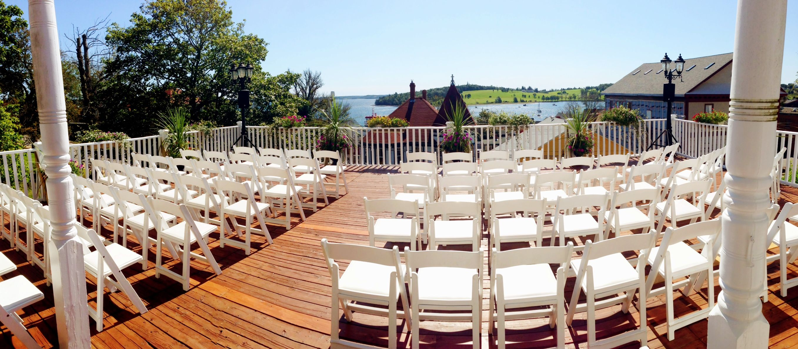 Have Your Wedding On The Deck Overlooking Lunenburg Harbour At Boscawen Inn