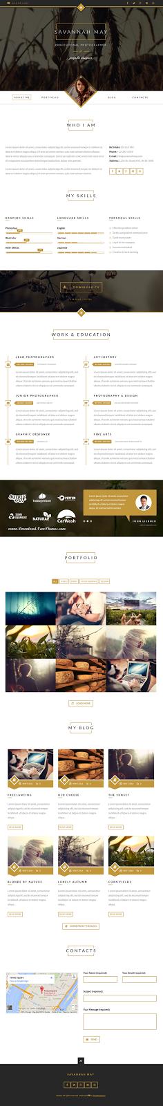 Best Responsive WordPress #vCard #Portfolio Template #resume #webdesign