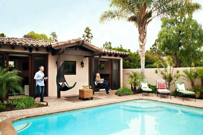 Cozy Casita  outdoor living space featured in San Diego Magazine, March 2014. http://www.simplystunningspaces.net