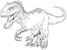 25 beste ausmalbilder jurassic world, dinosaurier, indominus rex, velociraptor in 2020