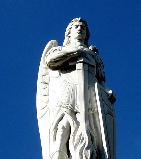 Archangel Uriel. Cerro del Tepeyac, Villa de Guadalupe.