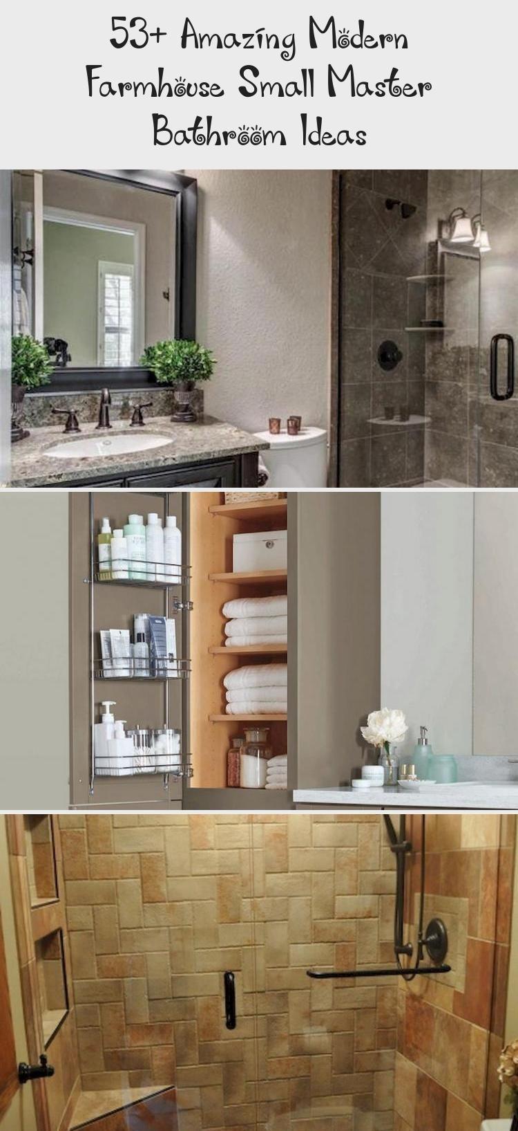 53+ amazing modern farmhouse small master bathroom ideas - İdeas # er ...#amazi...#amazi #amazing #bathroom #farmhouse #ideas #master #modern #small
