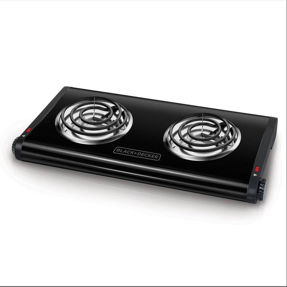 Black Decker Electric Double Burner Hotplate Hotplates Hot Plate