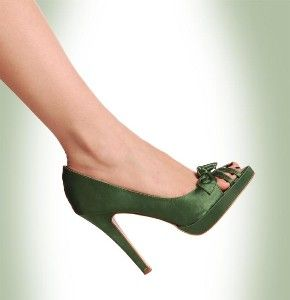 PERFECT Wedding Green Now Just Need To Find The Right Shoe In Satin PumpsPeep