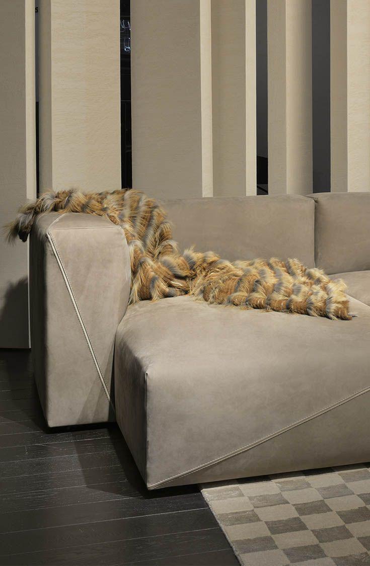 Diagonal Sofa By Toan Nguyen For Fendi Casa, Salone Del Mobile Milan 2014