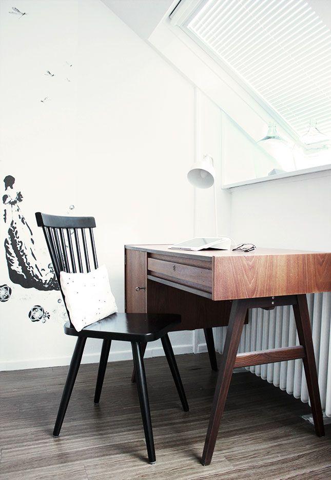 50erJahre Schreibtisch im Schlafzimmer Schreibtisch im