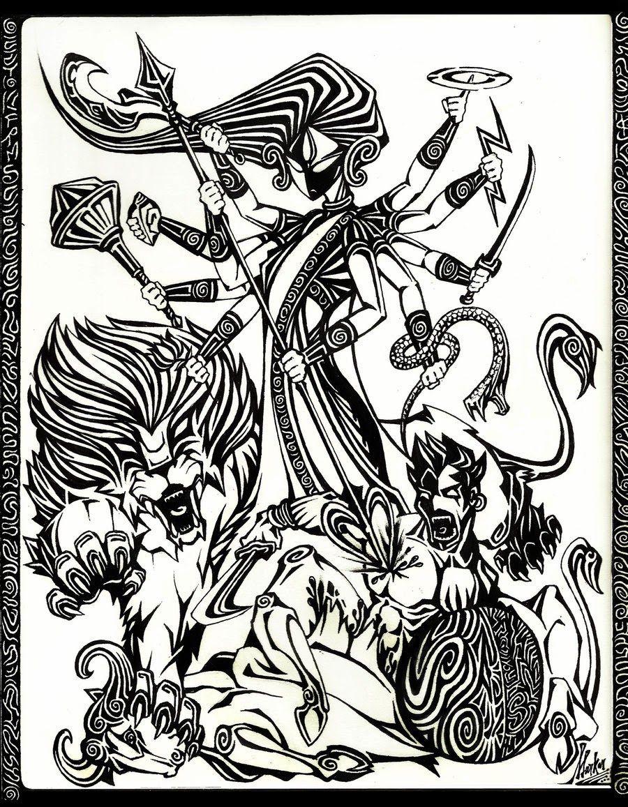 Goddess Durga Sketch | DIVINE HINDU DEITIES U2600ufe0f | Pinterest | Durga Goddesses And Sketches