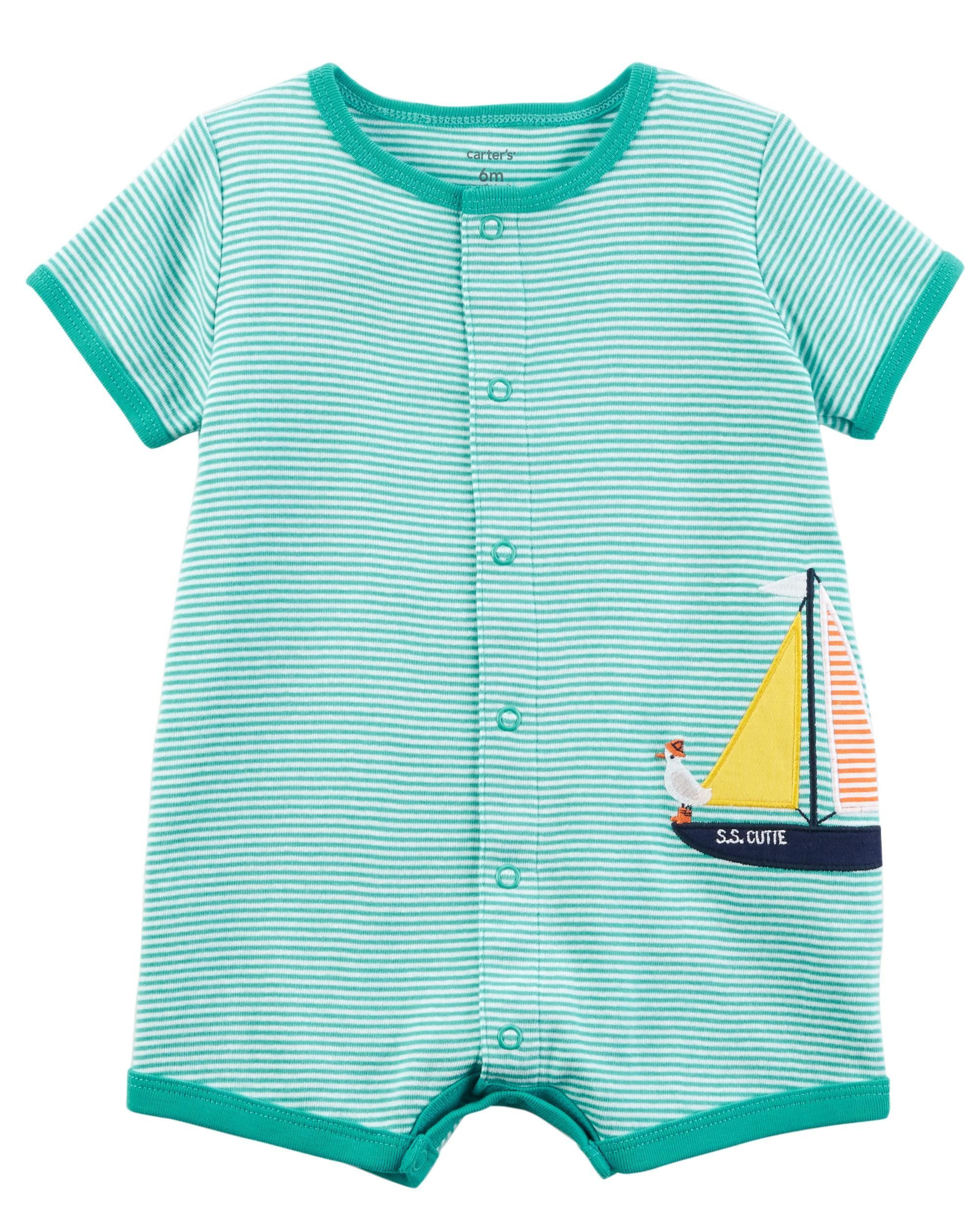 eeb2eddef Sailboat Snap-Up Cotton Romper | Lucien Anthony ❤ | Carters baby ...