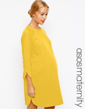 ASOS Maternity Shift Dress In Crepe With Cut Out at asos.com