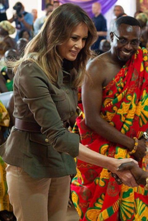 FLOTUS Melania Trump in Ghana on October 3, 2018