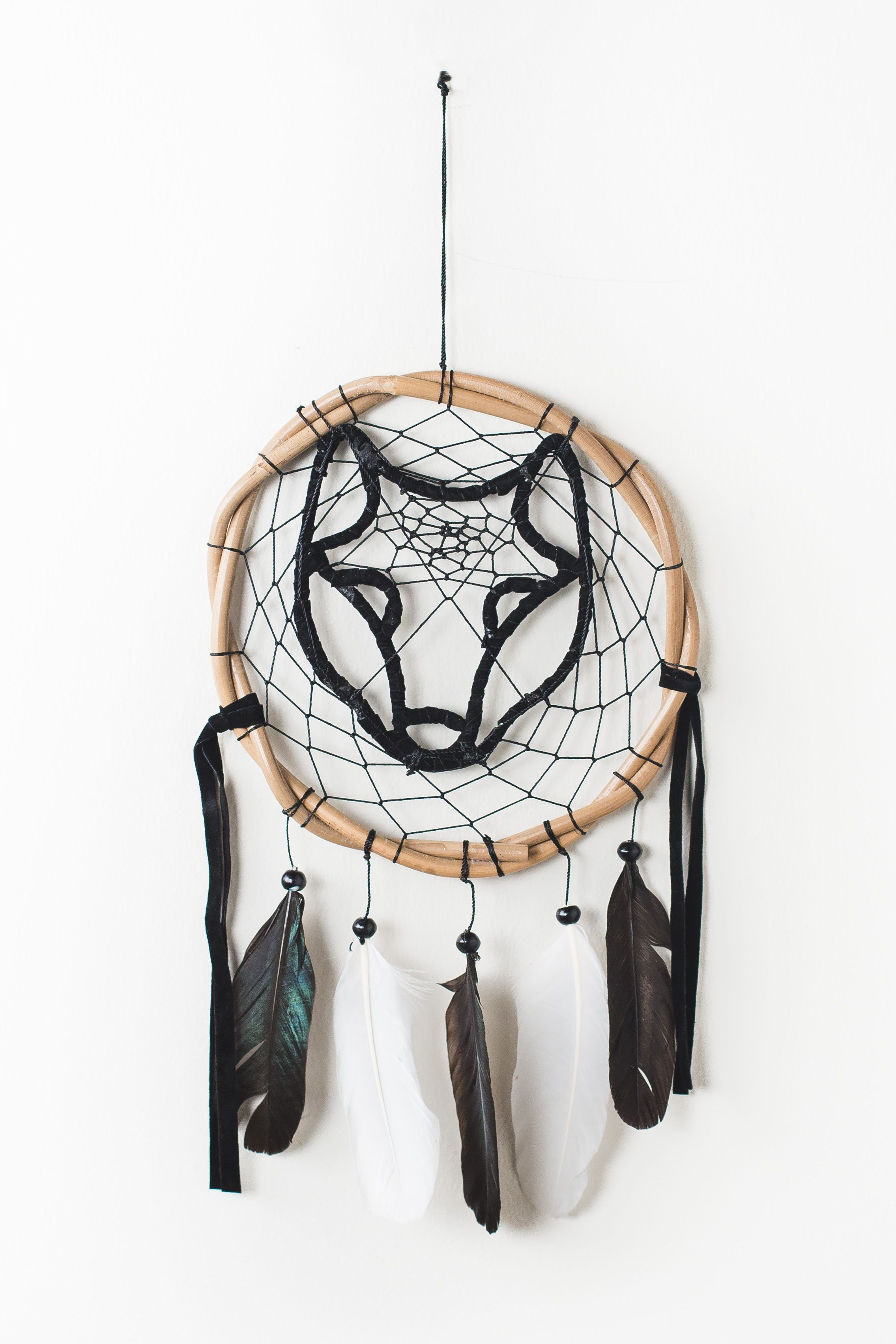 Black Wolf Dreamcatcher Earthbound Trading Co