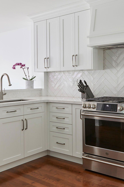 50+ White Herringbone Backsplash ( Tile in Style