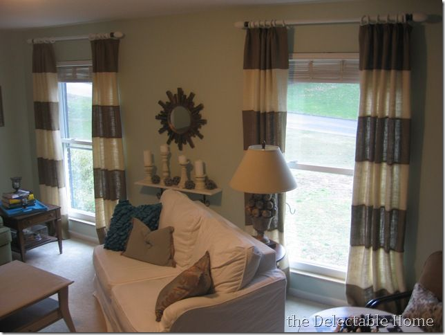 Burlap Striped Curtains
