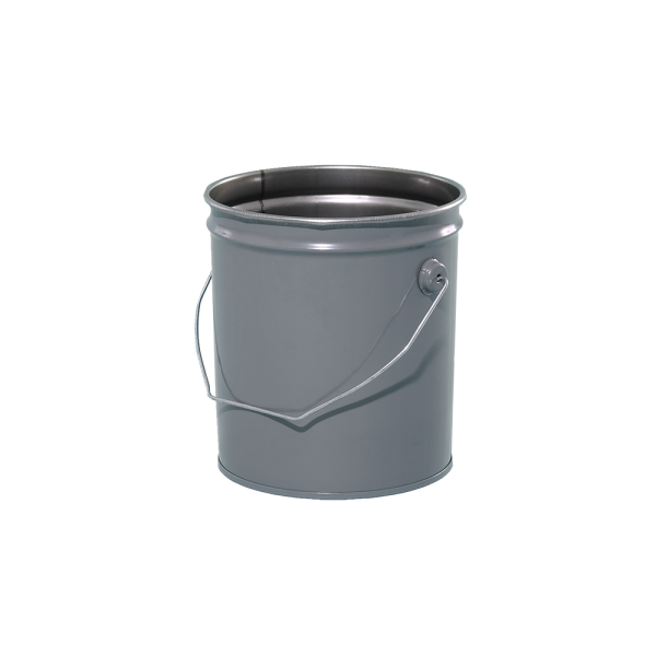 2 Gallon Grey 28 Gauge Metal Open Head Pail W Rust Inhibitor Lining Cover Pail Metal Containers Gallon