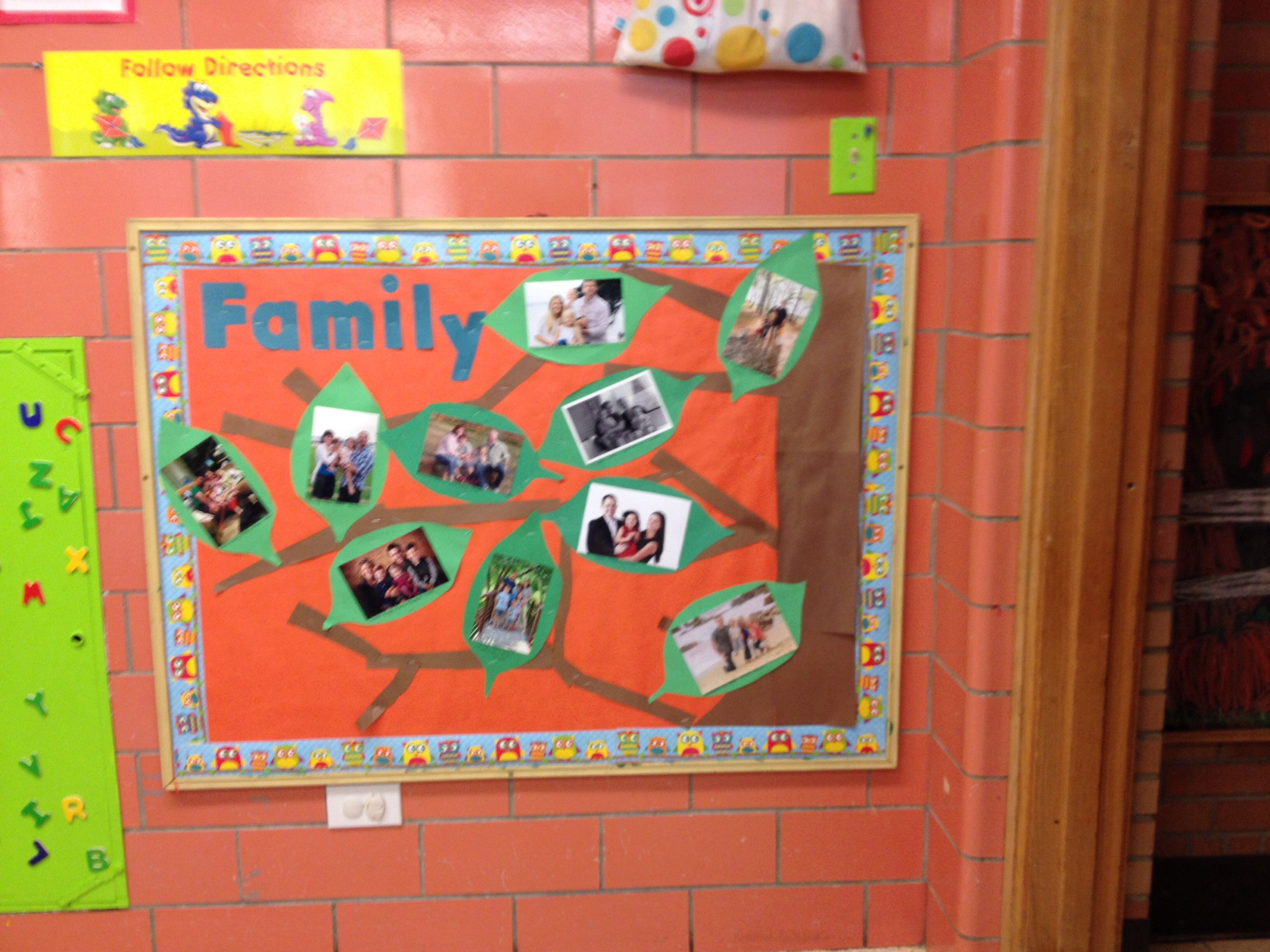 Preschool family tree bulletin board
