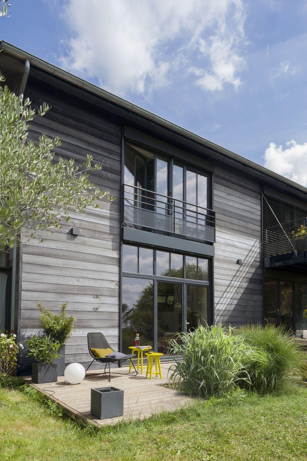 r sultat de recherche d 39 images pour facade en bois et. Black Bedroom Furniture Sets. Home Design Ideas
