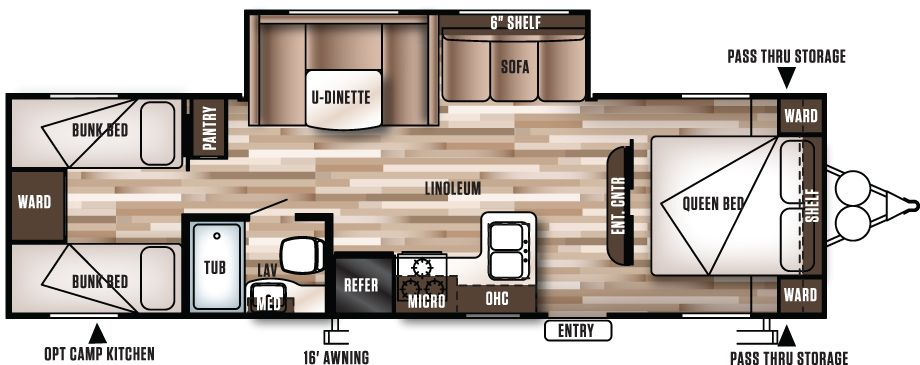 282QBXL Wildwood XLite Travel Trailers by Forest River RV