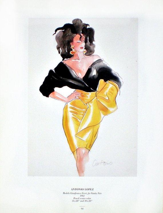 Antonio Lopez Fashion Print Sassy Wall Art by WallArtPrintShop
