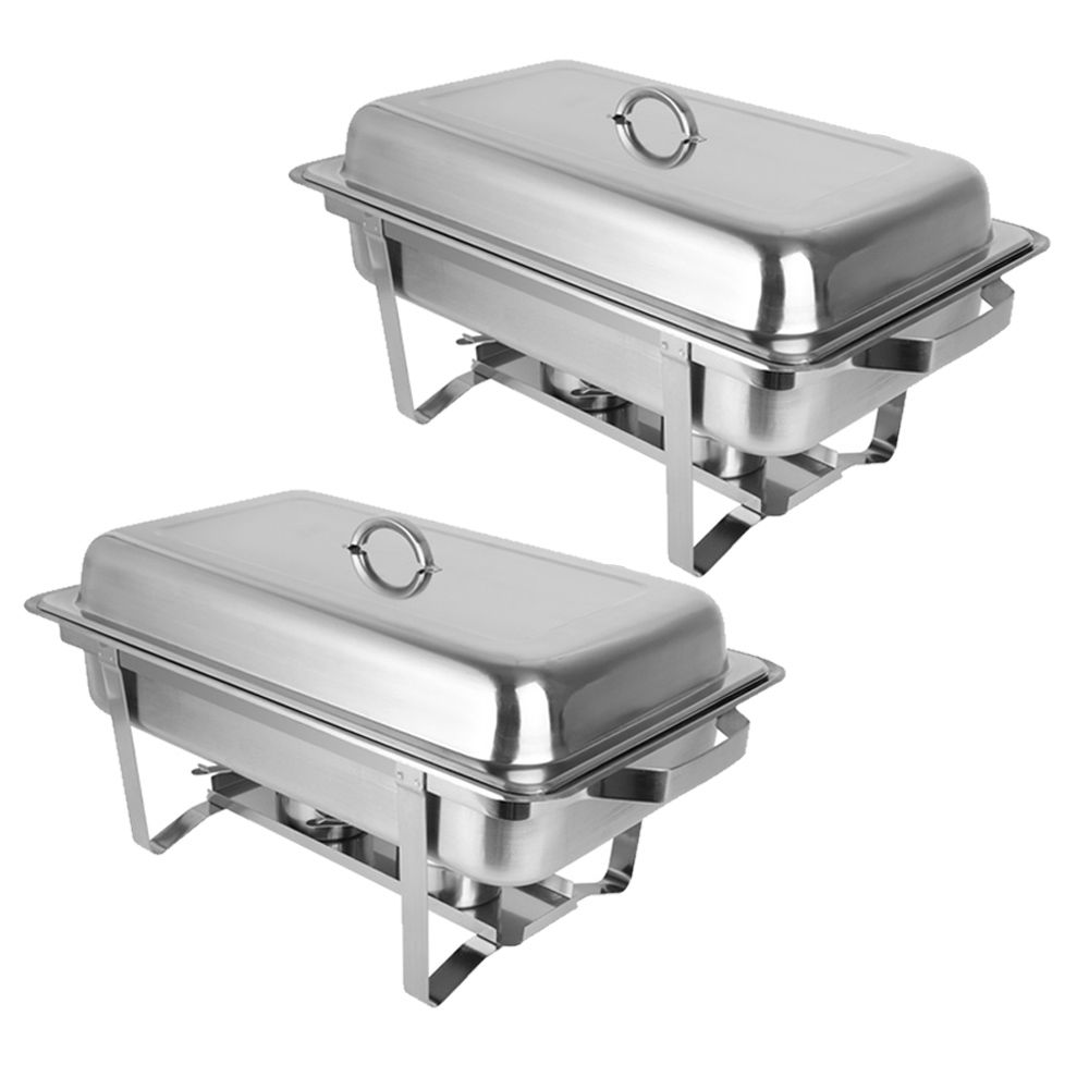 Ktaxon 8 Quart 2pcs Chafing Dish Buffet Catering Stainless Steel