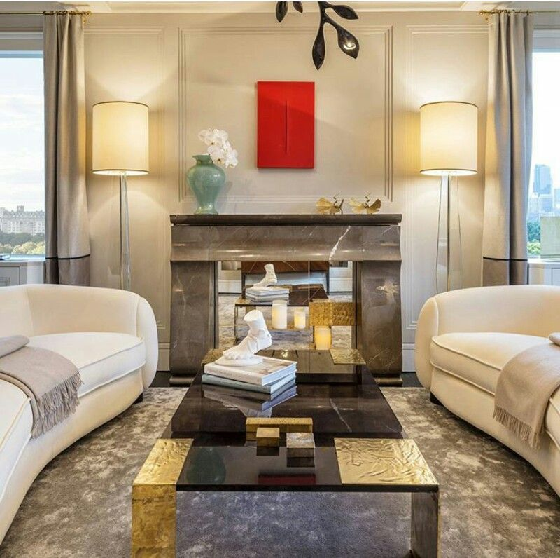 Contemporary Living Room in New York NY
