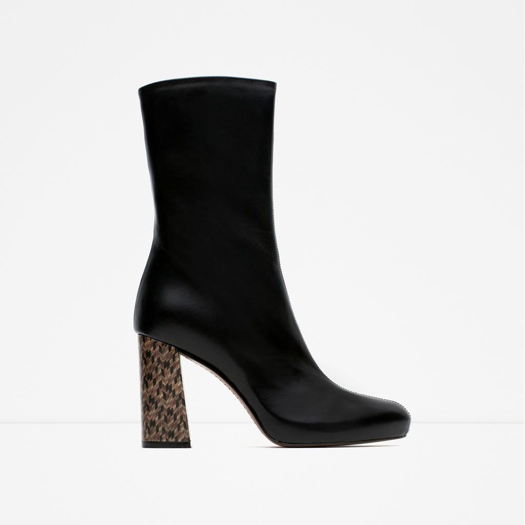 Leather Ankle Boots With Heel Detail Ankle Boots Shoes