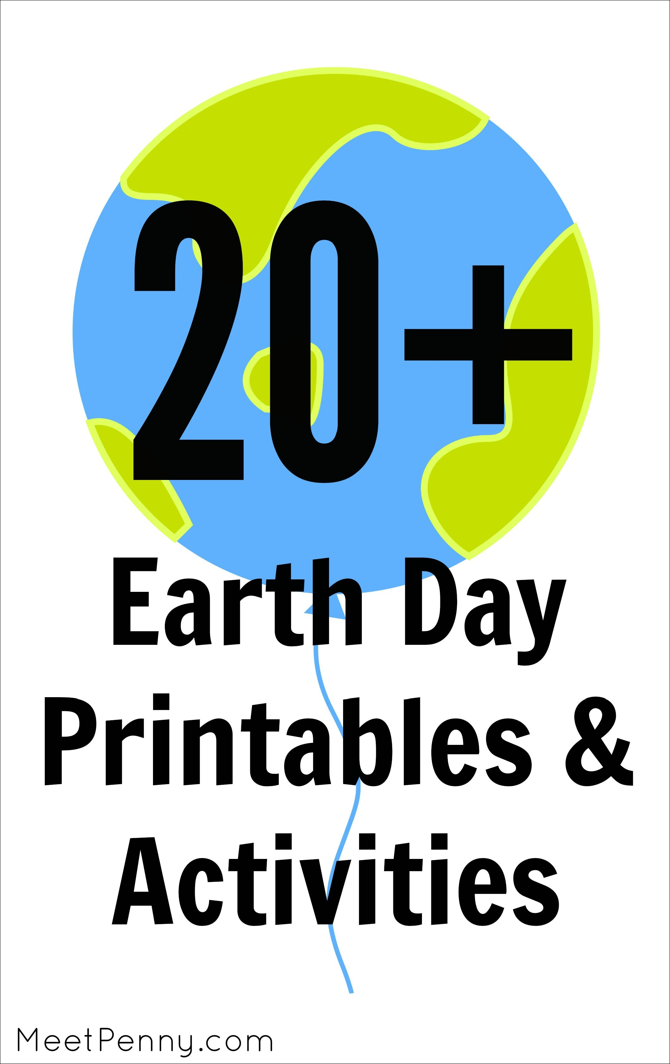 20+ Printables & Activities for Earth Day   Environmental Education