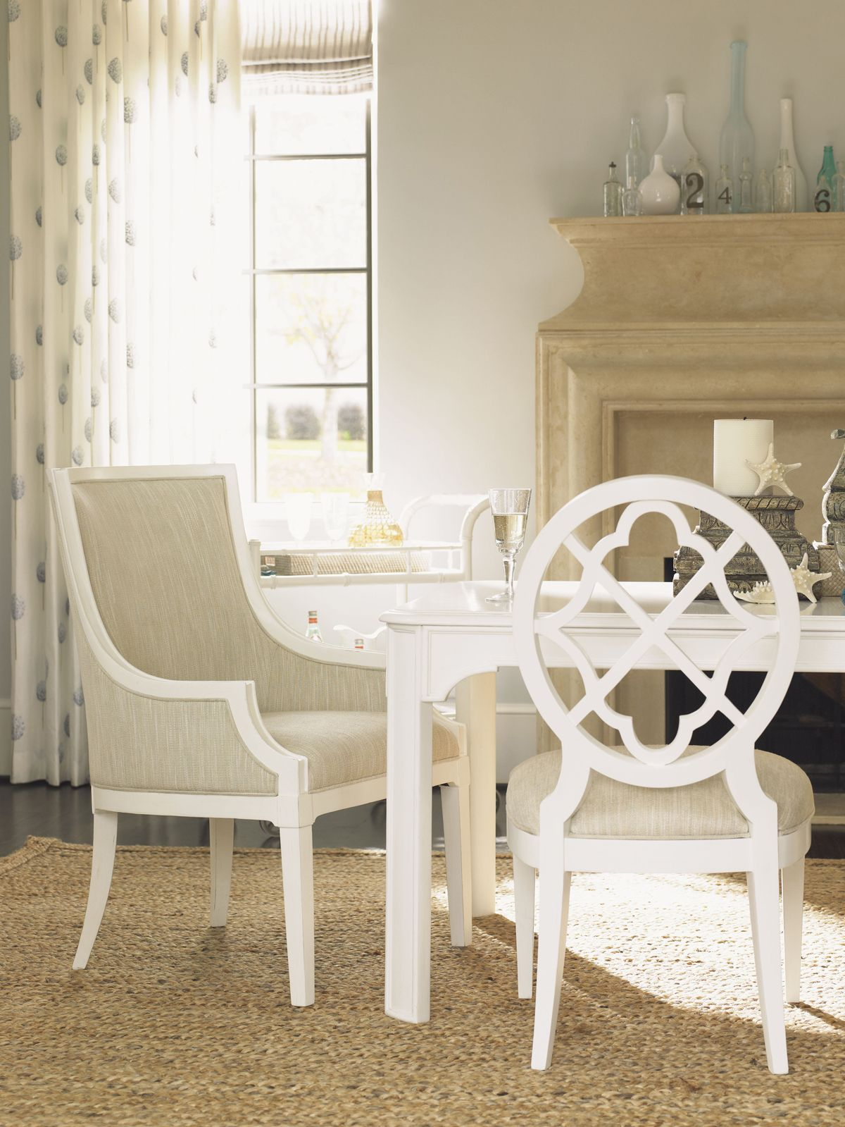 Ivory Key Gibbs Hill Host Dining Chair   Lexington Home Brands ...
