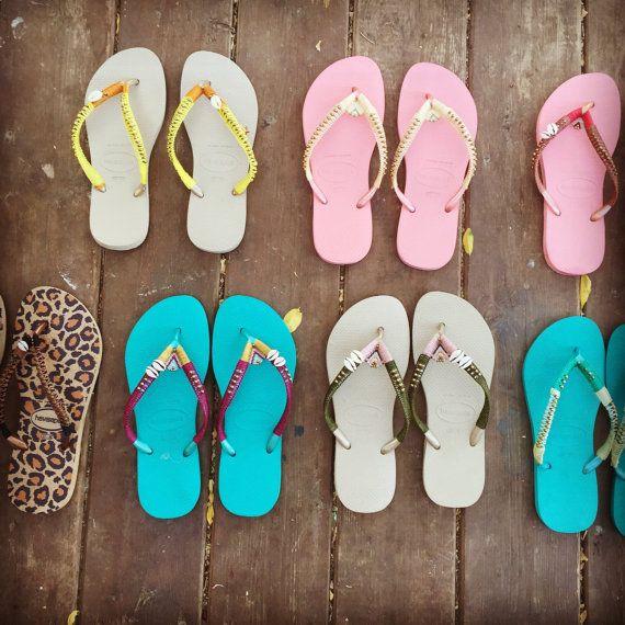 coloré épris de soleil Havaianas tongs. sandales de plage pour femme.  sandales d  40b3499f6c76