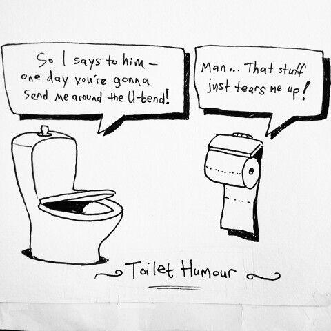 Toilet Humor Plumbing Humor Black And White Cartoon