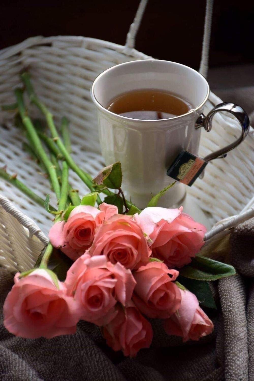 бант фото утреннего кофе с цветами этого нужно