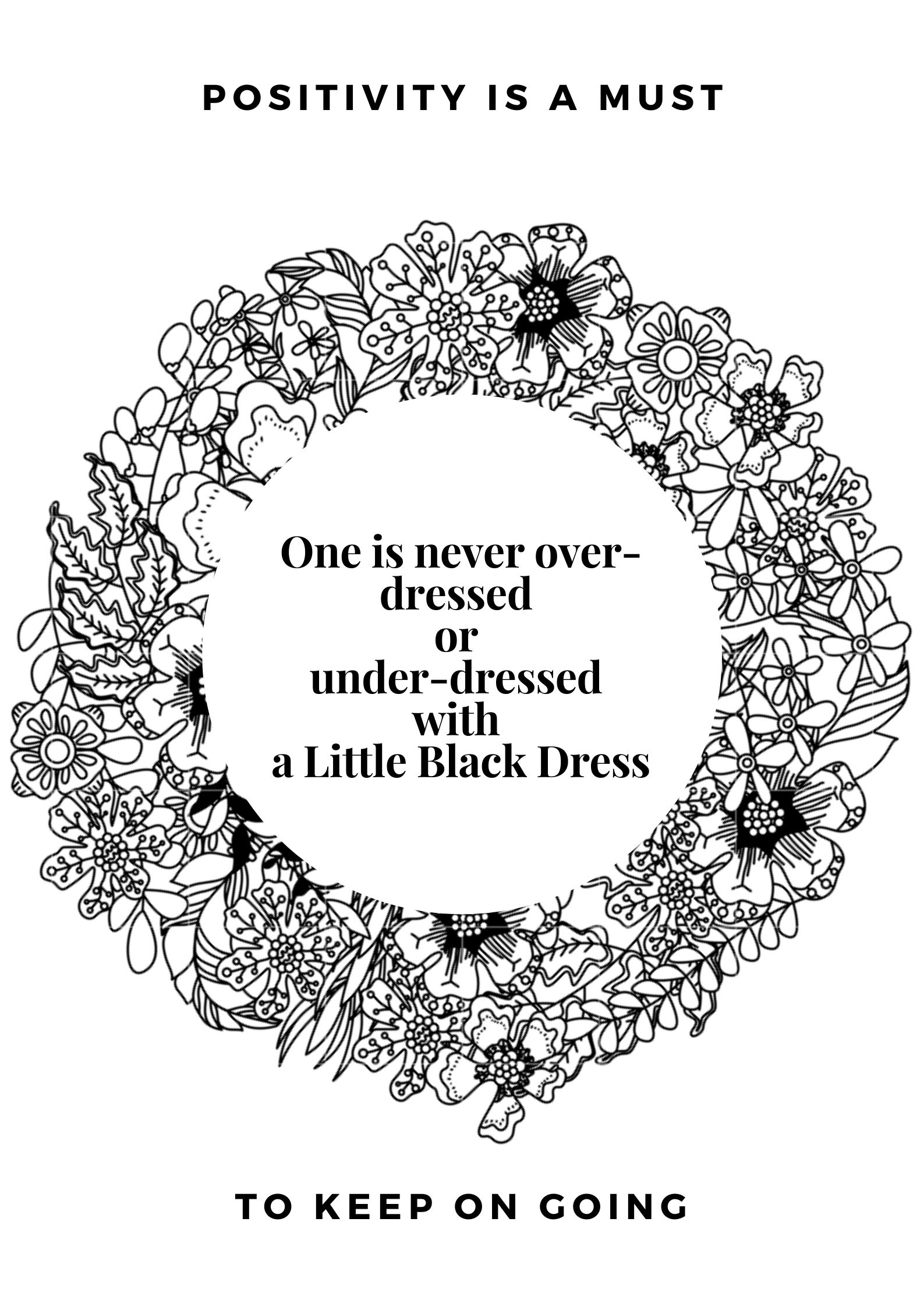 One Is Never Over Dressed Or Under Dressed With A Little Black Dress Karl Lagerfeld Under Dress Fashion Quotes Little Black Dress [ 2245 x 1587 Pixel ]