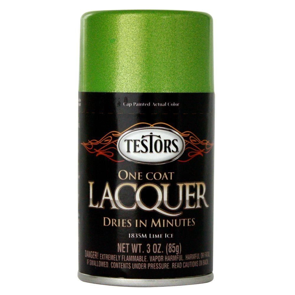 Testors 3 oz  Lime Ice Lacquer Spray Paint (3-Pack