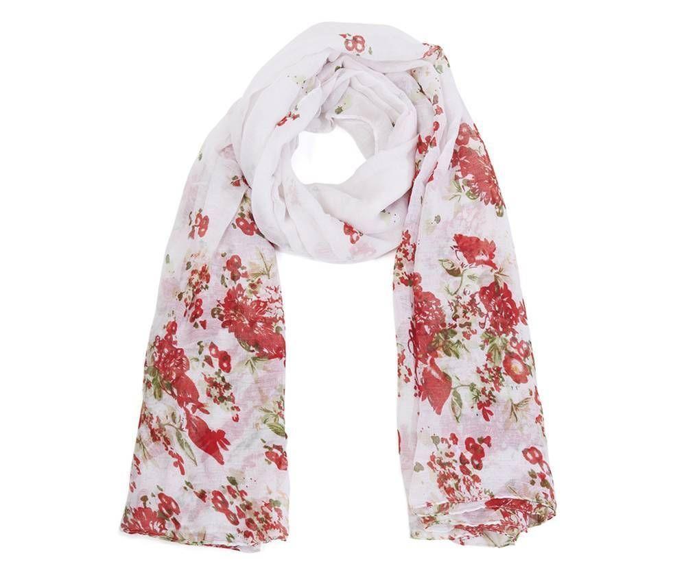 Women Ladies Red Poppy Poppies Floral Print Fashion Scarf Shawl Wrap Grey White