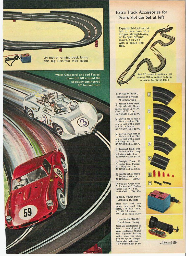 1966 Sears Christmas Catalog Page 469   Slot Car Sets