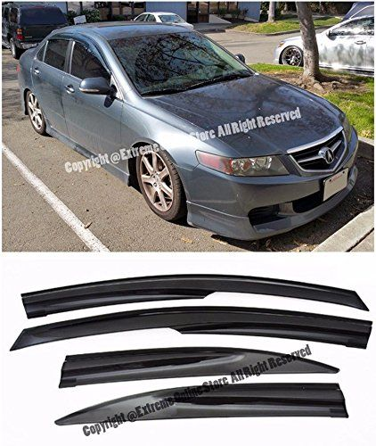 For 04 08 Acura Tsx Tape On Mugen Style Smoke Tinted Jdm Side Window Visors Rain Guard Deflectors 2004 2005 2006 2007 2008 04 05 06 07 0 Acura Tsx Acura Visors