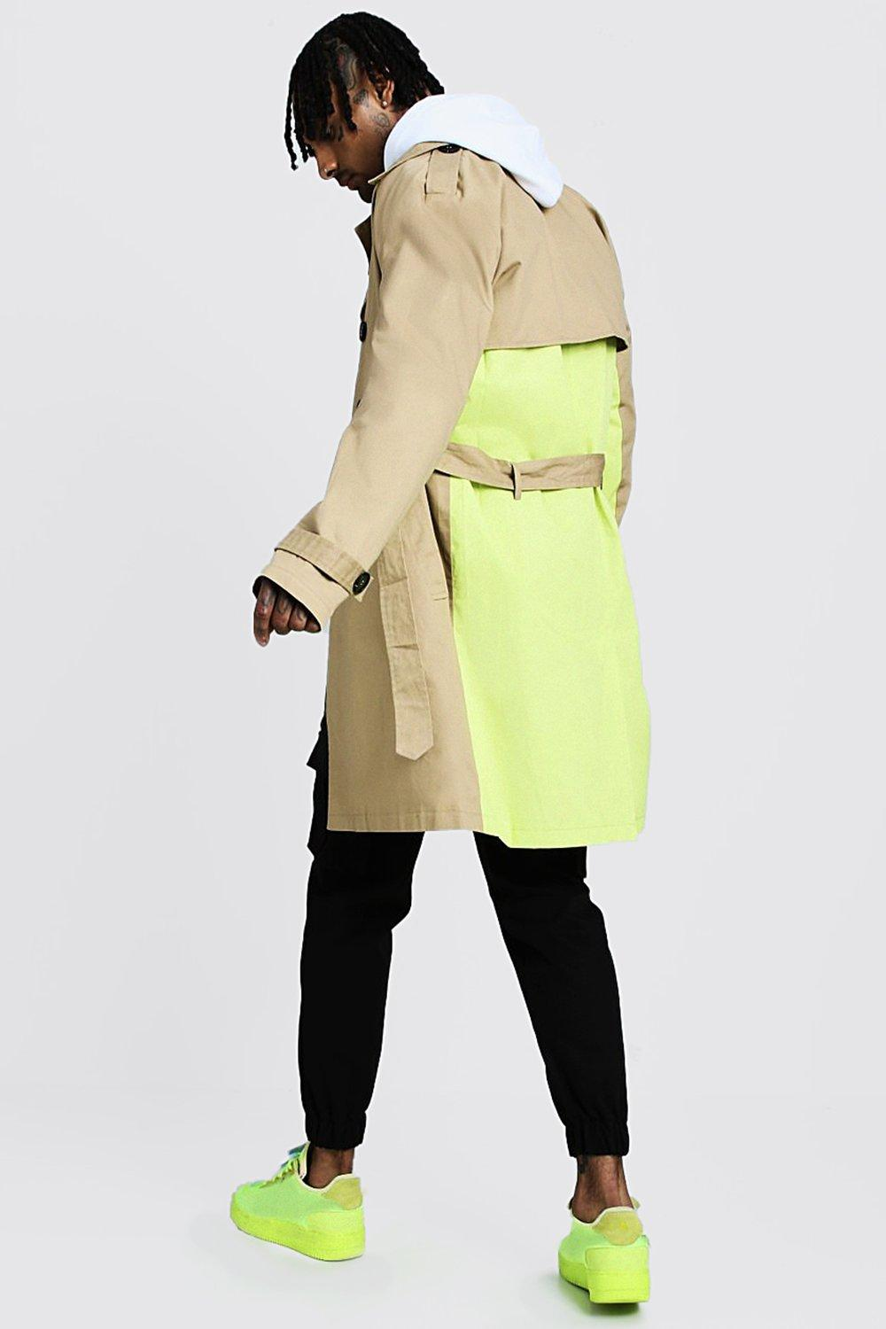 Trench Coat With Contrast Colour boohooMAN in 2020