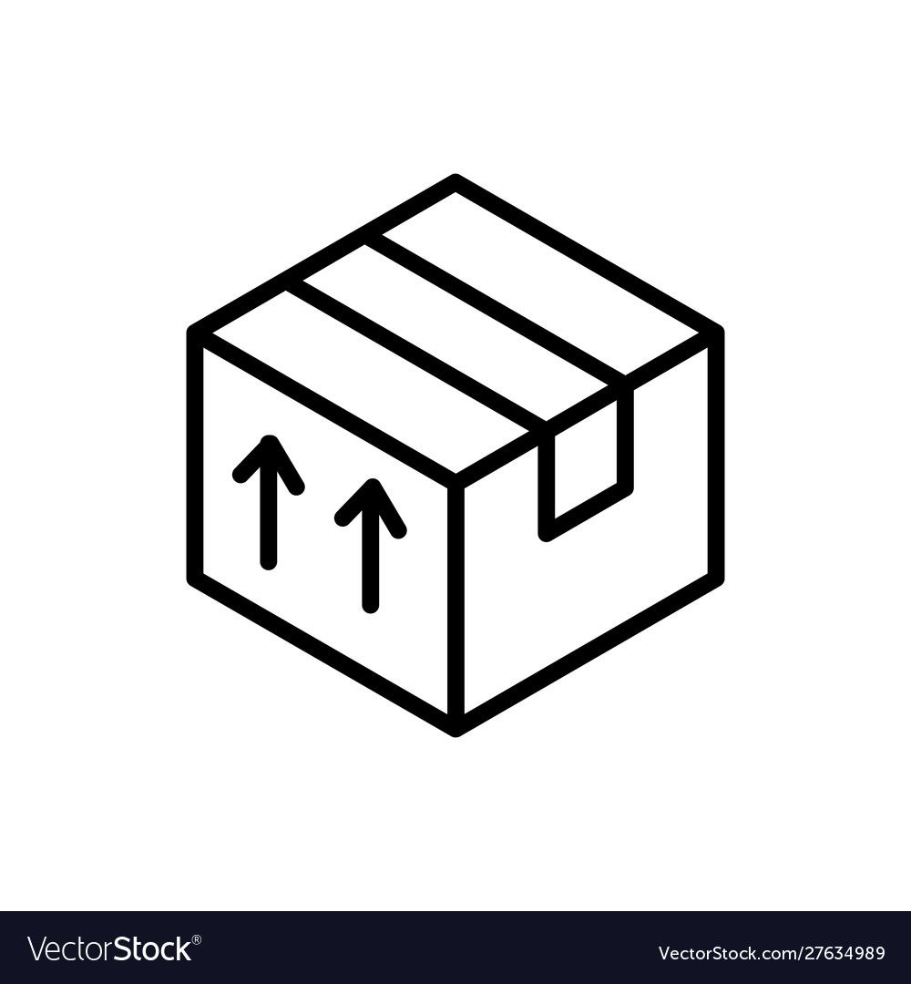 Cardboard Box Delivery Icon Thick Line Royalty Free Vector Affiliate Delivery Icon Cardboard Box Ad Vector Free Icon Design Box Delivery