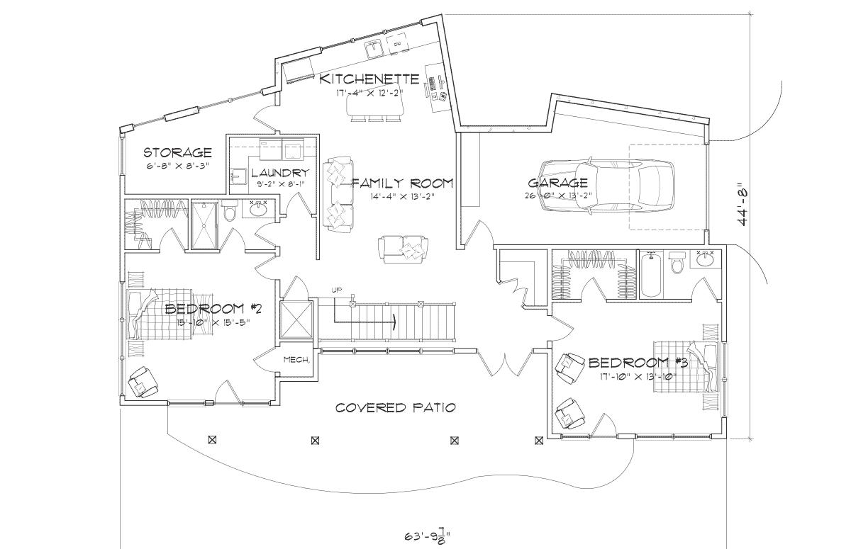 Crescent Rim Basement Floor Plan Timber Frame Plans