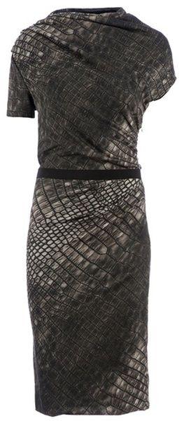 giambattista Valli Animal Textured Dress - Lyst