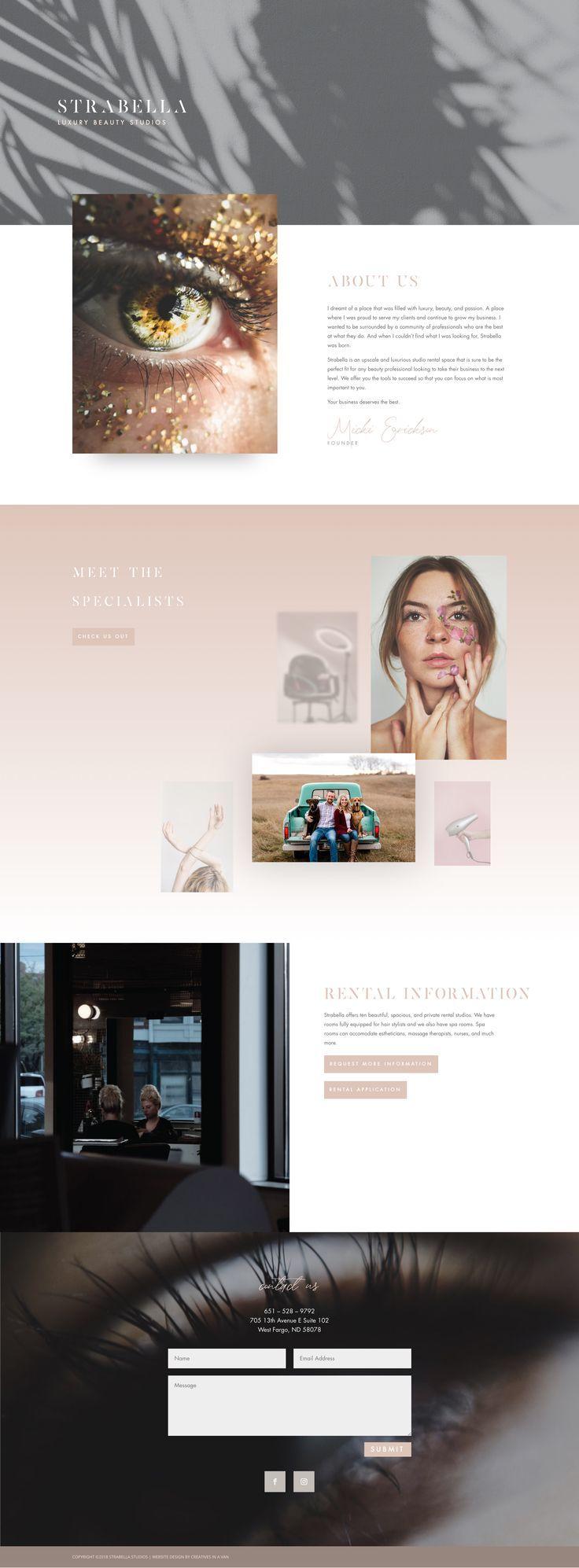 With Grace And Gold Branding Web Design And Education For Creative Women In Business Bra Web Development Design Portfolio Web Design Website Design Layout