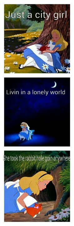"Alice in Wonderland's version of Journey's ""Don't stop Believing."" Ha ha ha    #Funny #Journey"