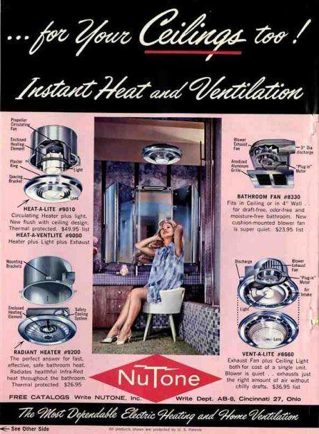 Vintage 1960 Electric Bathroom Heaters Retro Renovation Retro Renovation Retro Bathrooms Modern Gadgets