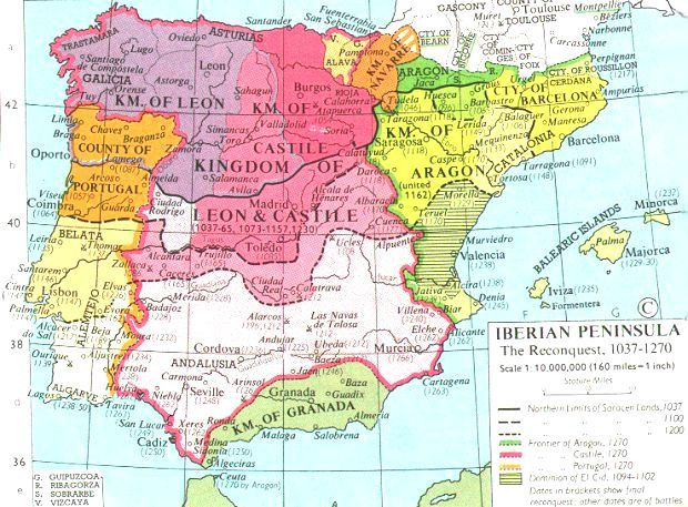 Map Of Spain Zamora.11th Century Map Of Spain Gn Andalusia Map Of Spain Map Spain