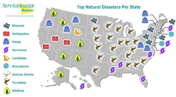 Natural Disasters by State Map Is Your Area at Risk? Natural