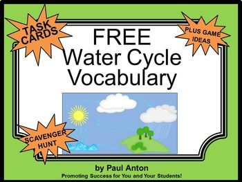 Water Cycle: Water Cycle Vocabulary - You will receive 6 free ...