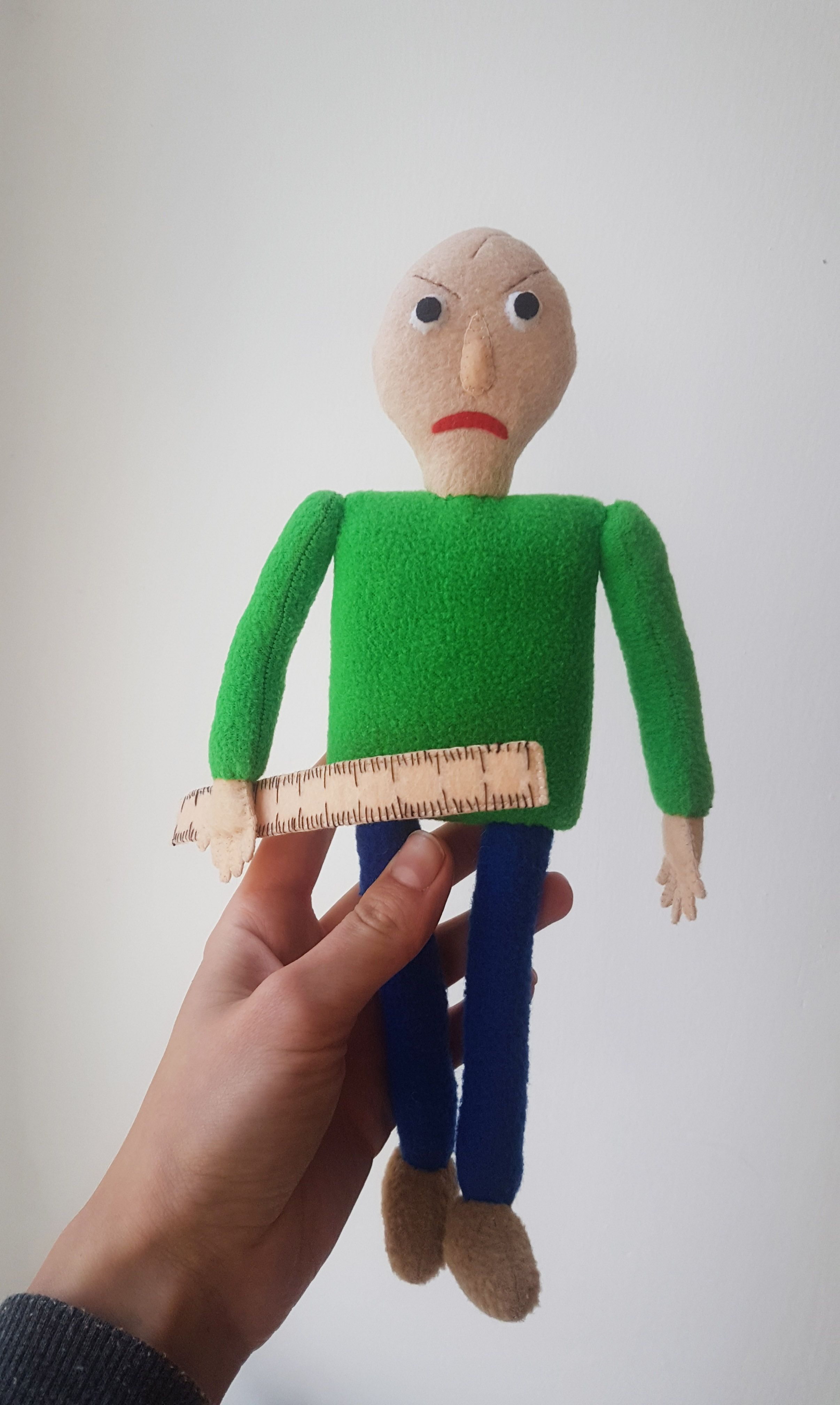 Baldi S Plush Baldi S Basics In Education And Learning Inspired Plush Handmade Soft Toy Two Sizes With Images Handmade Soft Toys