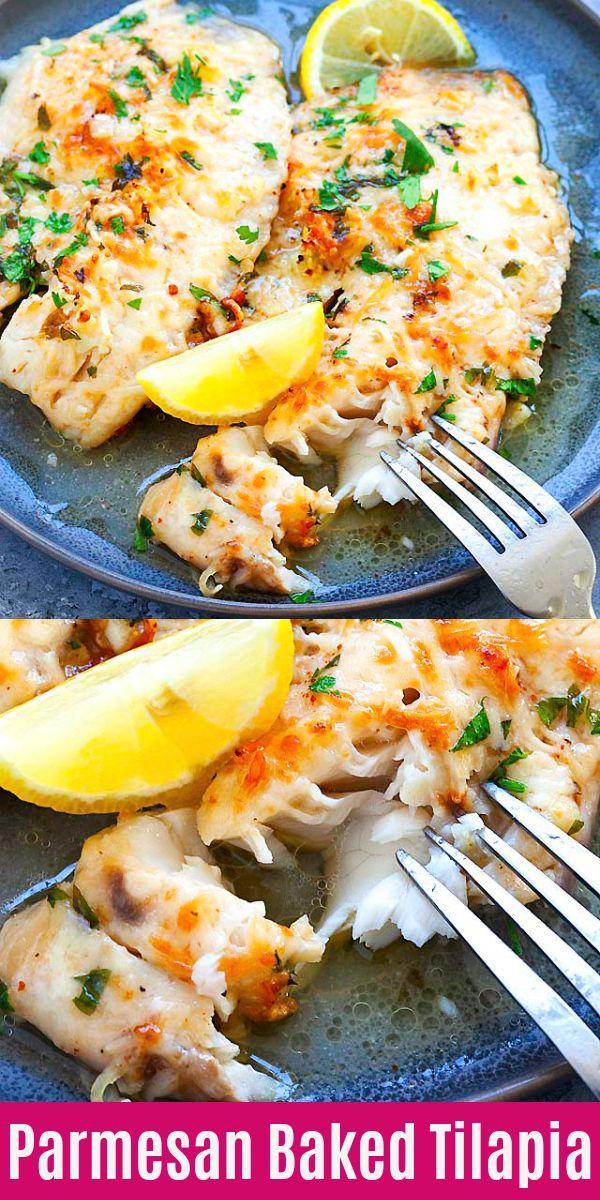 Lemon Parmesan Baked Tilapia images
