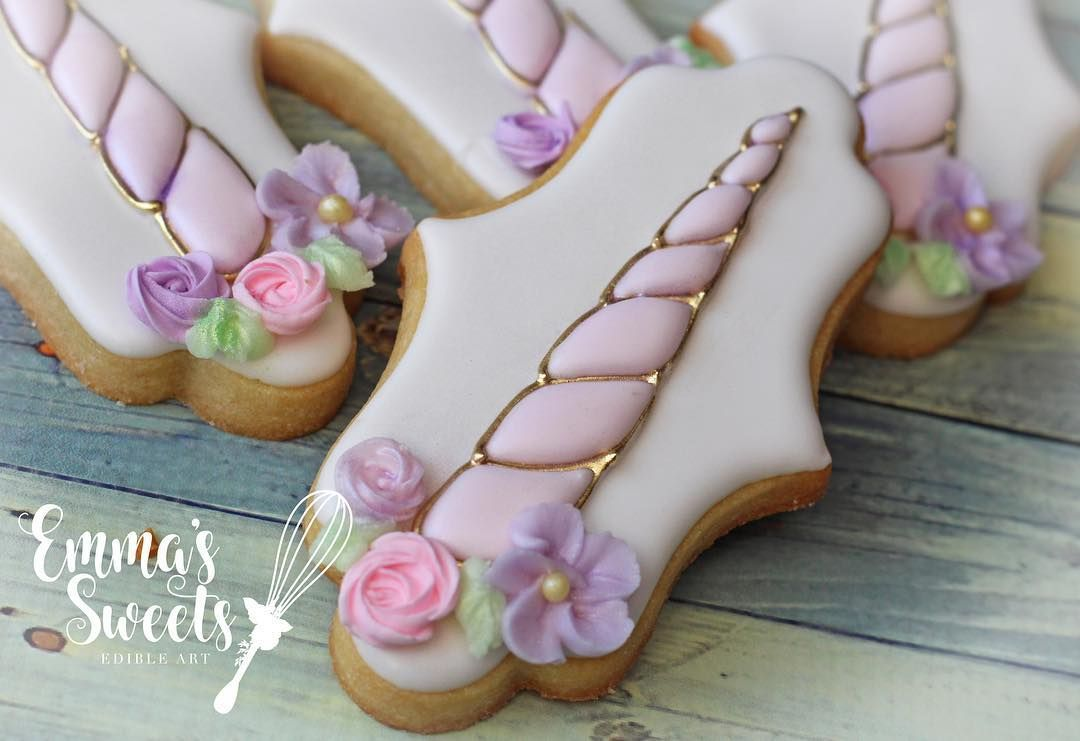 Unicornios Horns | Galletas de unicornio, Glaseado para ...
