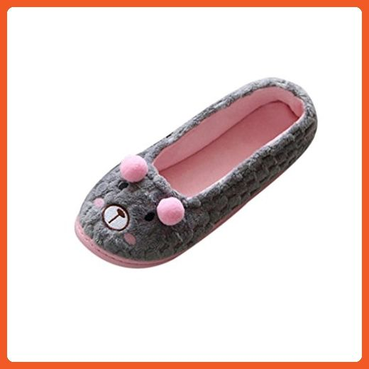 Inkach Women Home Slippers Cute Cartoon Warm Pregnant Women Shoes Yoga Shoes 6 5 7 Us Gray Slippers For Women Amazon Par Women Shoes Yoga Shoes Slippers